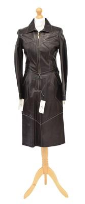 Lot 20 - A Farratux black leather set