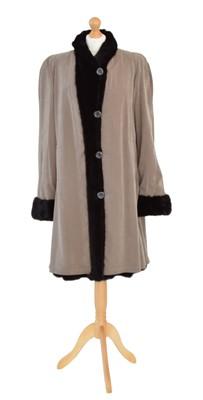 Lot 30 - A Saga Mink reversible fur coat