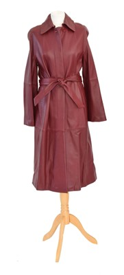 Lot A MaxMara red leather jacket