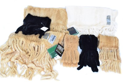 Lot A selection of fur scarves