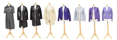 Lot A large selection of leather jackets
