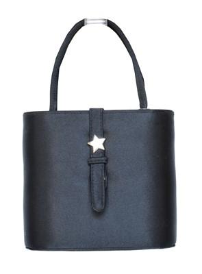 Lot 2 - A Fendi black satin evening bag