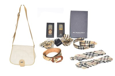 Lot 54 - A Burberry bag and selection of accessories