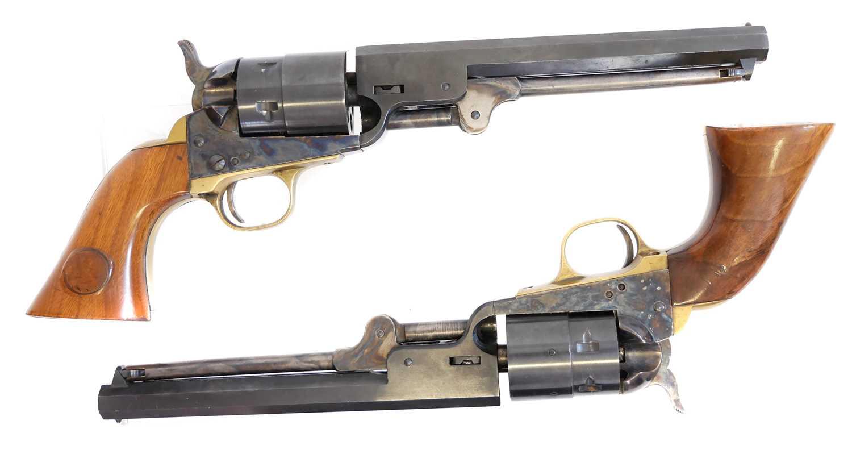 Lot Pair of Italian blank firing replica Colt Navy revolvers
