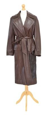 Lot 126 - A Loewe leather coat