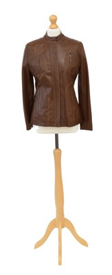 Lot 117 - A Burberry leather jacket