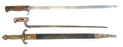 Lot 45 - German short sword and two bayonets