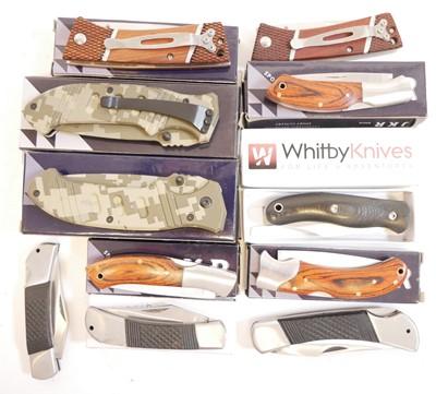 Lot 86 - Eleven lock knives ex shop stock