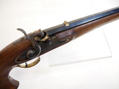 Lot Pedersoli .44 percussion long barrel pistol LICENCE REQUIRED.