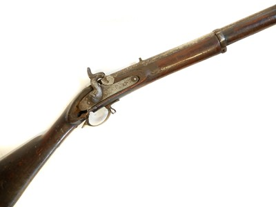 Lot 305 - Percussion two band musket for restoration