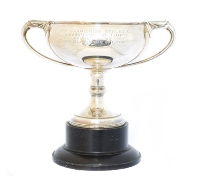 Lot 142 - A George V silver twin handled trophy