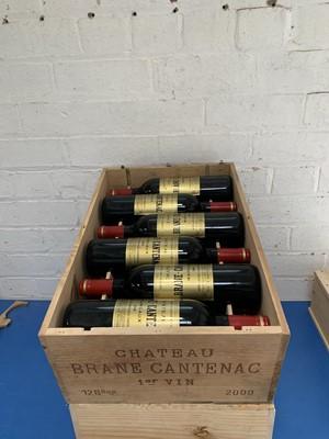 Lot 58 - 12 Bottles (In OWC) Chateau Brane Cantenac Grand Cru Classe Margaux 2000
