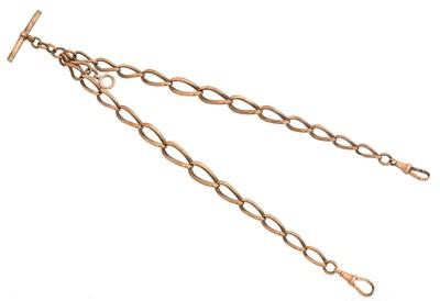 Lot 88 - A 9ct gold Albert chain
