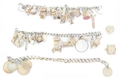 Lot 15 - Three charm bracelets