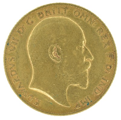 Lot 43 - King Edward VII, Half-Sovereign, 1910.