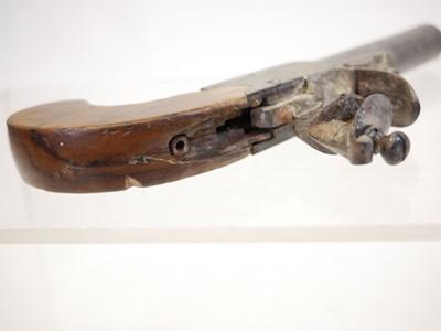 Lot Flintlock pocket pistol by Mortimer London