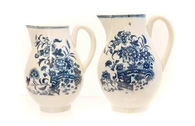 Lot 213 - Two Worcester porcelain sparrow beak jugs circa 1780