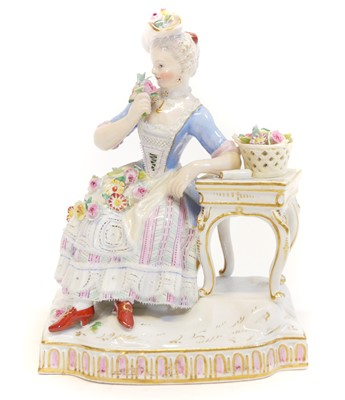 Lot 229 - A Meissen figure of smell from a set of the five senses