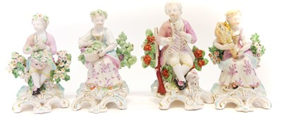 Lot 222 - Two pairs of Derby figures