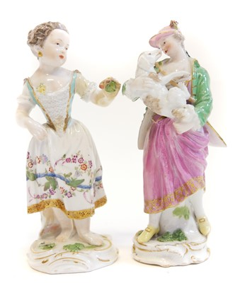 Lot 227 - Meissen figure and one other