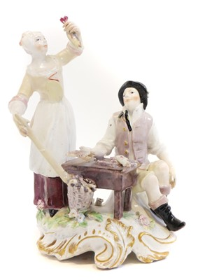 Lot 223 - Chelsea red anchor period figure group