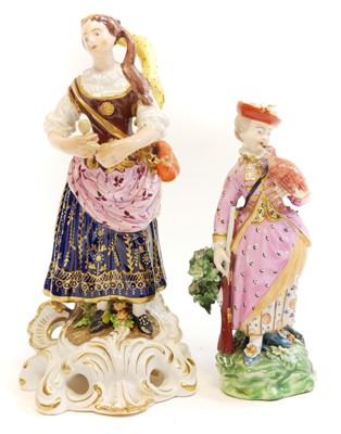 Lot 221 - Two Derby figures of ladies