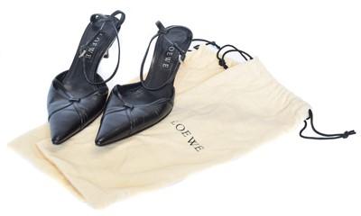 Lot 37 - A pair of black leather heels by Loewe