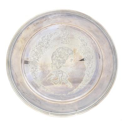 Lot 135 - An Elizabeth II silver commemorative salver
