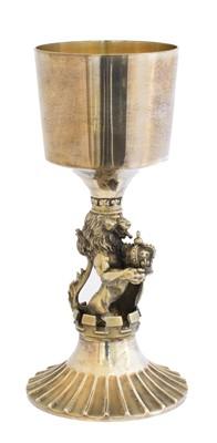 Lot 138 - An Elizabeth II silver commemorative goblet