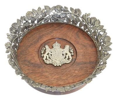 Lot 141 - An Elizabeth II silver commemorative wine coaster