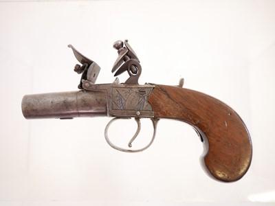 Lot Flintlock pocket pistol by Twigg