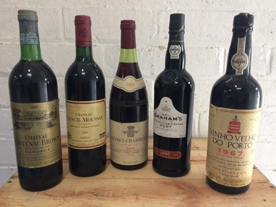 Lot 3 - 5 Bottles Mixed Lot Grand Cru Classe Claret, Fine Burgundy and Port