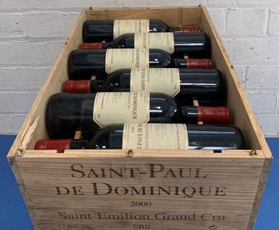 Lot 9 - 12 Bottles (in OWC) St Paul de Dominique St Emilion Grand Cru 2000