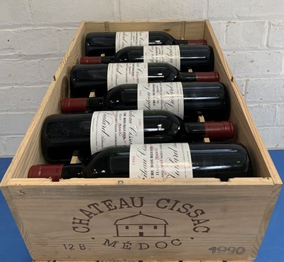 Lot 10 - 12 Bottles (in OWC) Chateau Cissac Cru Bourgeois Haut Medoc 1990 (all hin)