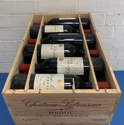 Lot 11 - 12 Bottles (in OWC) Chateau Potensac Cru Bourgeois Medoc 1988