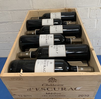 Lot 12 - 12 Bottles (in OWC) Chateau d'Escurac Cru Bourgeois Medoc 2010
