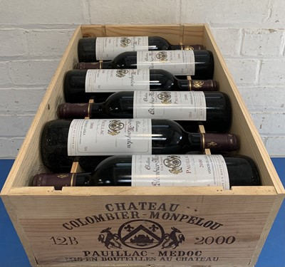 Lot 13 - 12 Bottles (in OWC) Chateau Colombier-Monpelou Cru Bourgeois Pauillac 2000