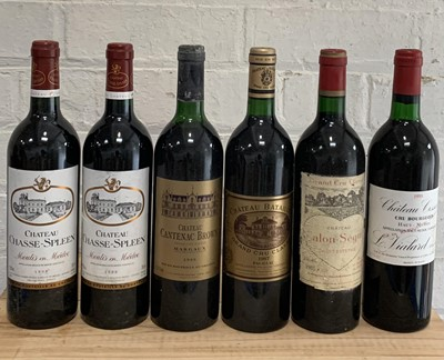Lot 20 - 6 Bottles Fine Mature 'Left Bank' Clarets to include Classified Growths