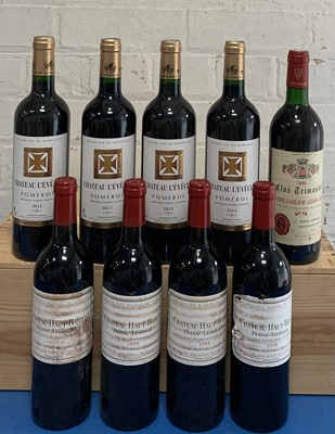 Lot 21 - 9 Bottles Mixed Lot Red Graves, Pomerol and St. Emilion