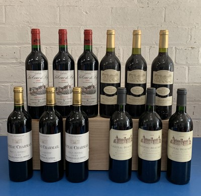 Lot 35 - 12 Bottles Mixed Parcel of fine Cru Bourgeois and Bordeaux Clarets