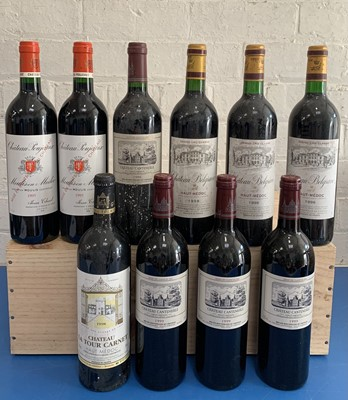 Lot 36 - 10 Bottles Mixed Parcel of fine Classified Growth and Cru Bourgeois Clarets