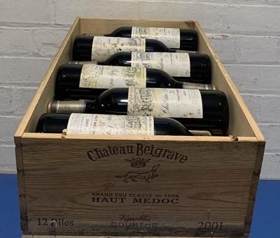 Lot 38 - 12 Bottles (in OWC) Chateau Belgrave Grand Cru Classe Haut-Medoc 2001