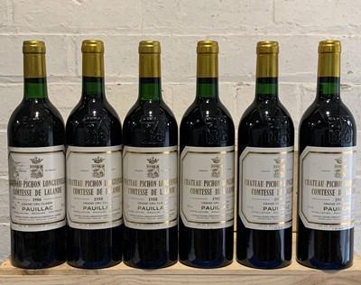 Lot 43 - 6 Superb Bottles Mature Chateau Pichon Longueville Comtesse de Lalande