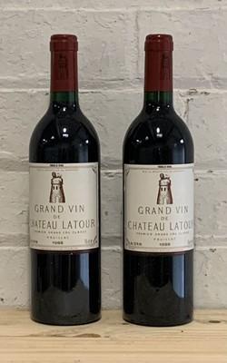 Lot 45 - 2 Bottles Chateau Latour Pauillac 1er Grand Cru Classe Pauillac 1988 (2 i/n)
