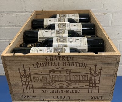 Lot 46 - 12 Bottles (in OWC) Chateau Leoville Barton Grand Cru Classe St Julien 2001 (unopened yet)