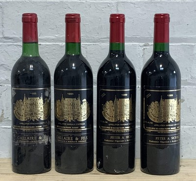 Lot 50 - 4 Bottles Mixed Vintages Lot from Chateau Palmer Margaux