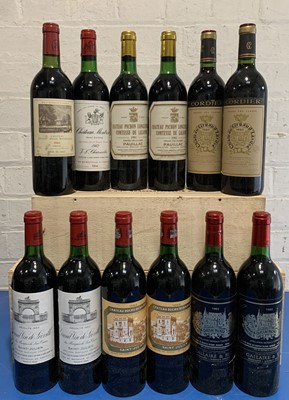 Lot 52 - 12 Bottles Mixed Parcel of some of the finest 1982 Classified Growth Clarets