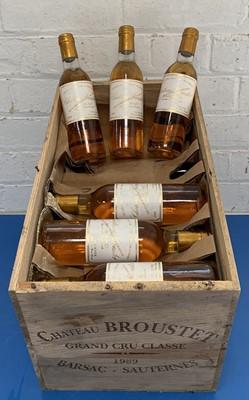 Lot 68 - 24 Half bottles (in OWC) Chateau Broustet Grand Cru Classe Sauternes (Barsac) 1989