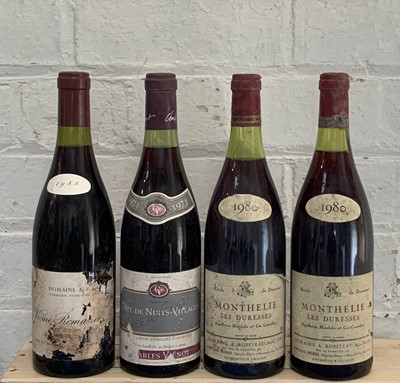 Lot 70 - 4 Bottles Mixed Lot Fine Domaine Red Burgundy