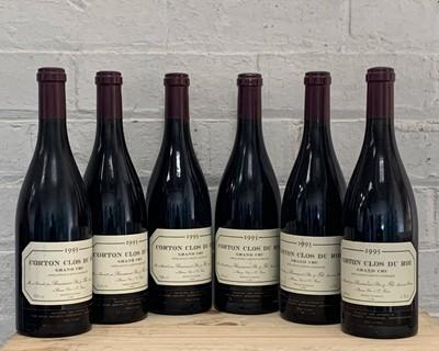 Lot 78 - 6 (3 +3) Bottles Corton Grand Cru 'Clos du Roi' Remoissenet Pere et Fils 1995